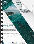 Front cover image on marine habitat map research project