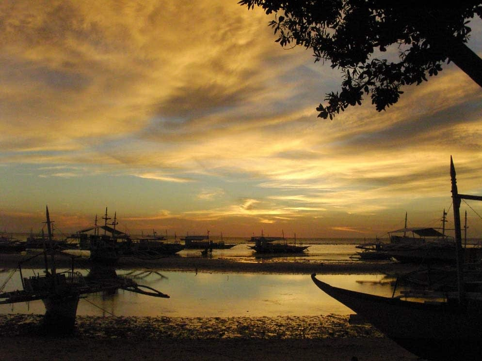 My first malapascua sunset from the People and the Sea office.