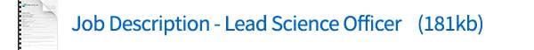 Lead Science Officer description download
