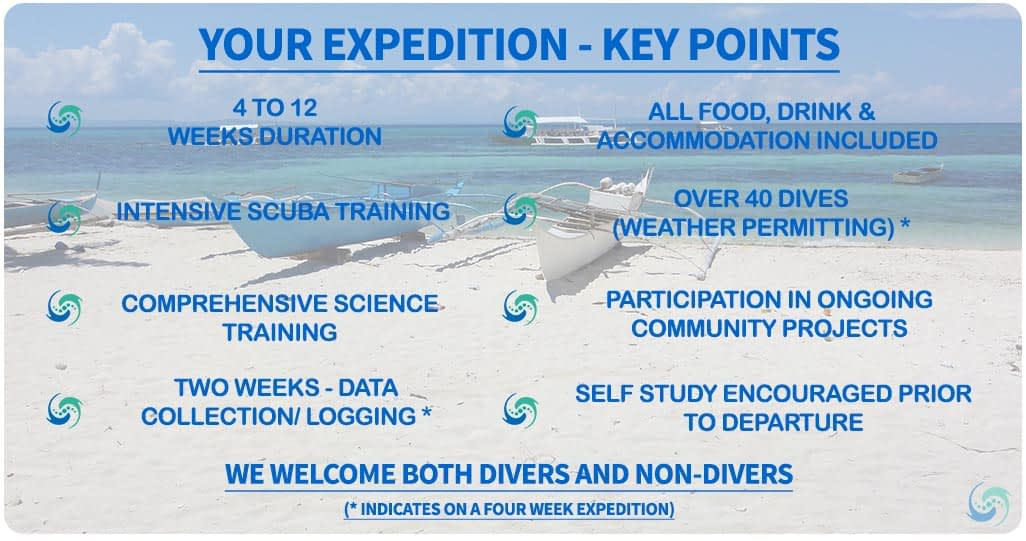 Key points of our marine conservation expeditions