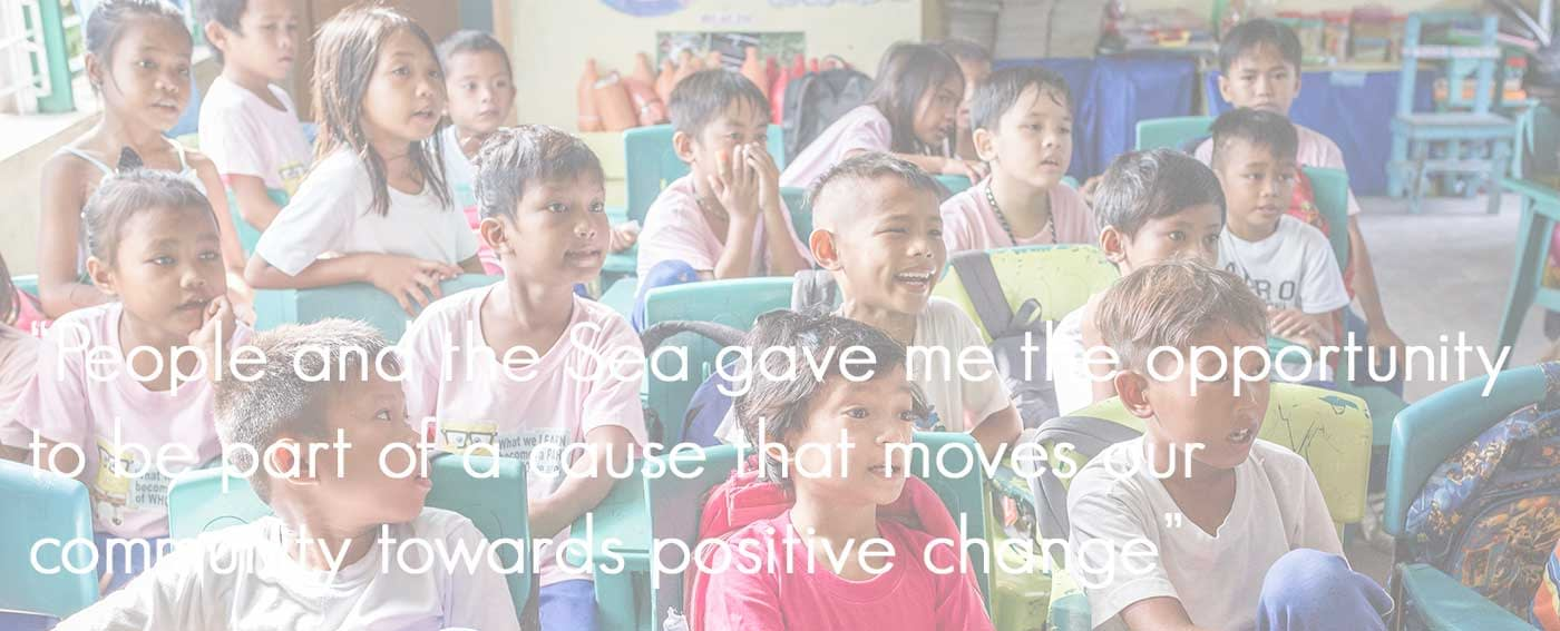Our local education programmes help build the foundations for a sustainable future for the Philippines seas