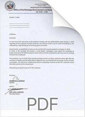 COT Letter download