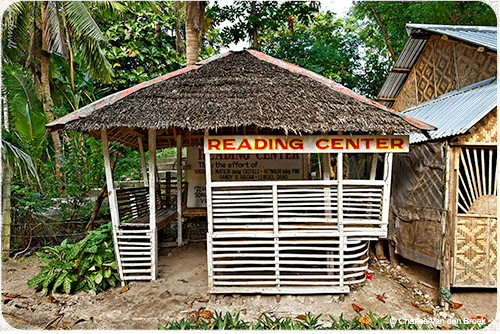 There is no library on Malapascua, but there is a 'reading centre!'