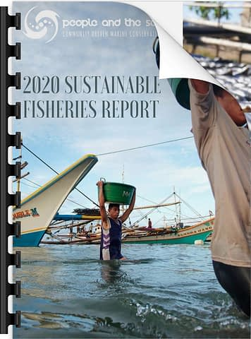 Icon for our Sustainable Fisheries report with positive human impacts for the sea.
