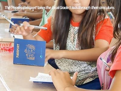 The Pepsea Pasport was designed to guide the school kids through the science cirriculum developed by People and the Sea