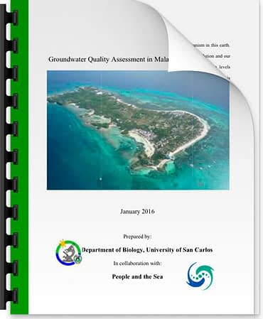 An initial investigation in to the ground water quality on Malapascua Cebu, Philippines