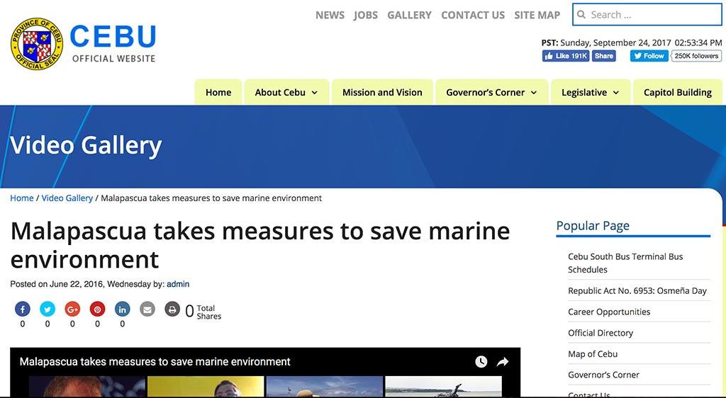 Malapascua takes measures to save marine environment
