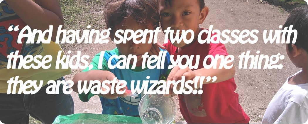 The local kids are waste segregation wizards after the People and the Sea environmental lessons