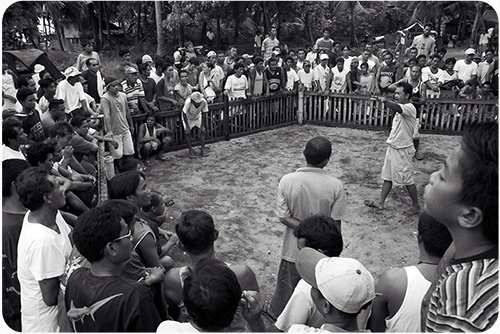 Cockfighting features highly among favorite local pastimes.