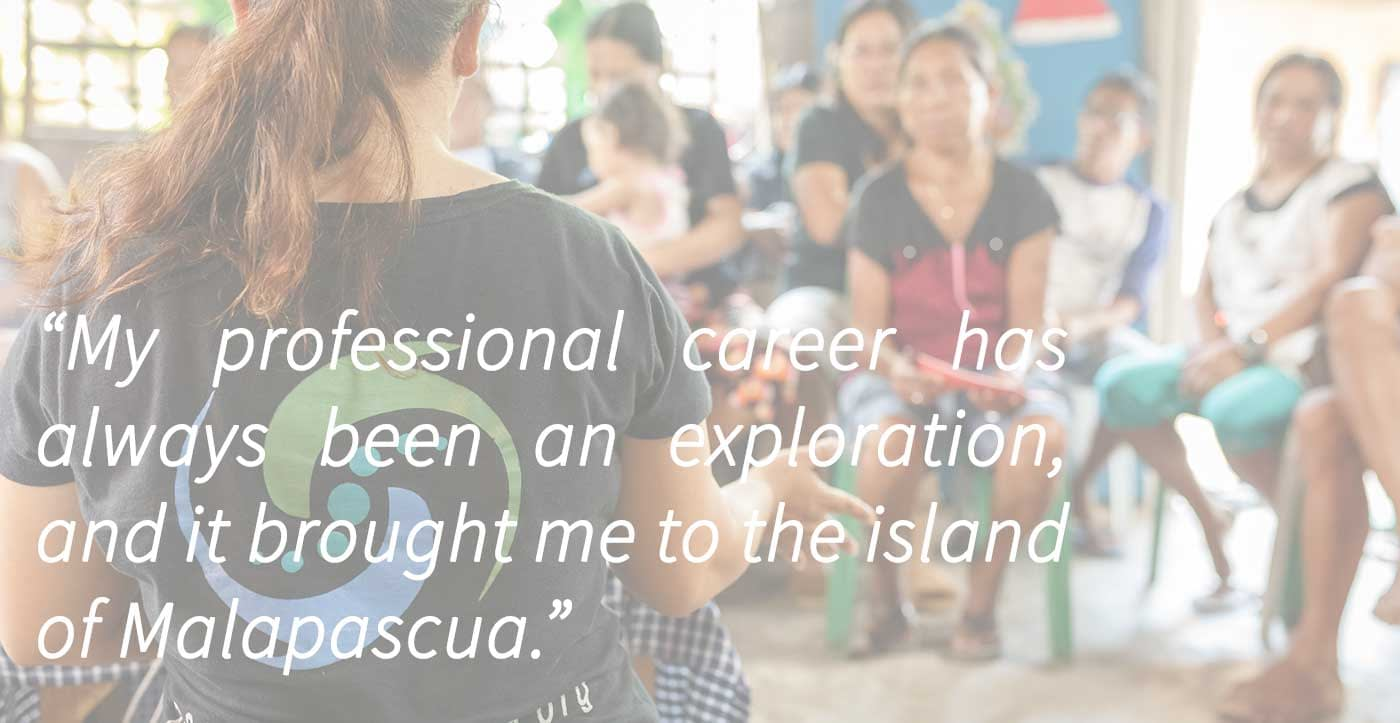 A quote from the blog looking at community development in Philippines and the links to ocean conservation