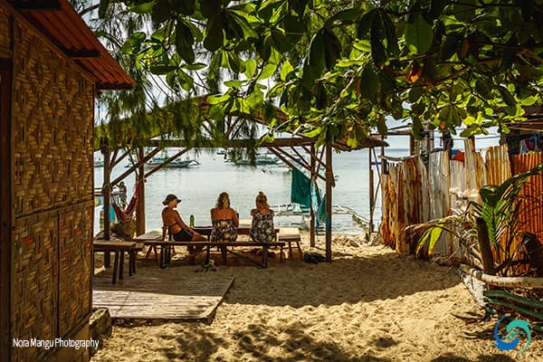 The Nipa Hut is where we all take meals together every day - not a bad view!