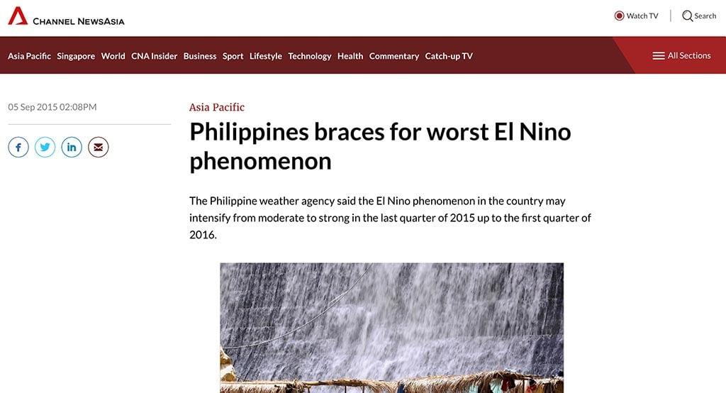 Philippines braces for worst El Nino phenomenon