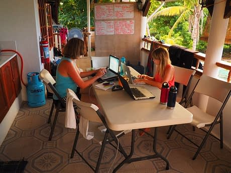 Planning our thresher shark expeditions involves a lot of time spent in the office...