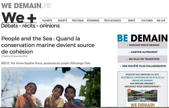 People and the Sea on 'WeDemain' news website